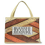 Blessed Beyond Lightweight Tote Bag, 14-1/2