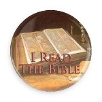 I Read The Bible Button - 2.25