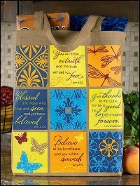 "Patchwork Promises Lightweight Tote, 14-1/2""x16""  (COPY)"
