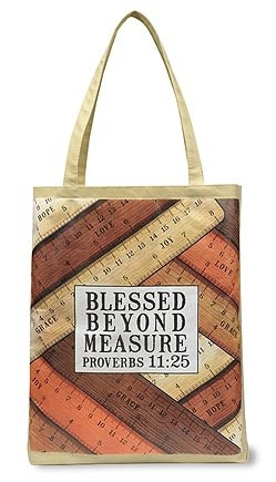 "Blessed Beyond Lightweight Tote Bag, 14-1/2""x16"""