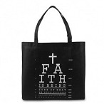 Faith Is Being Sure, Lightweight Tote Bag, 14-1/2