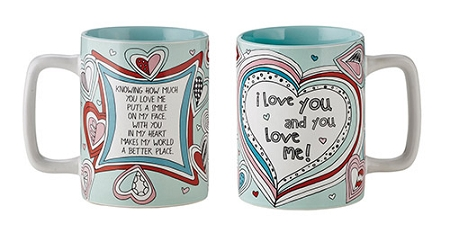 I Love You Mug, Gift Boxed- color w/oil based marker to personalize
