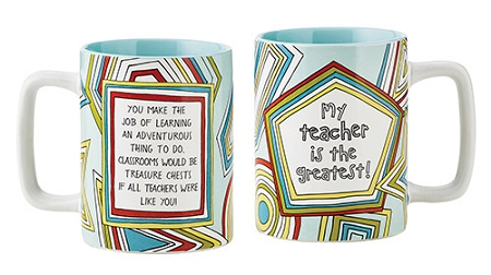 Greatest Teacher Mug, Gift Boxed- color w/oil based marker to personalize
