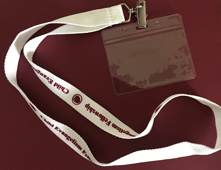 CEF Lanyards w/Plastic Badge Holder