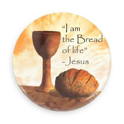 "Bread of Life Button - 2.25"" w//standard pin back"