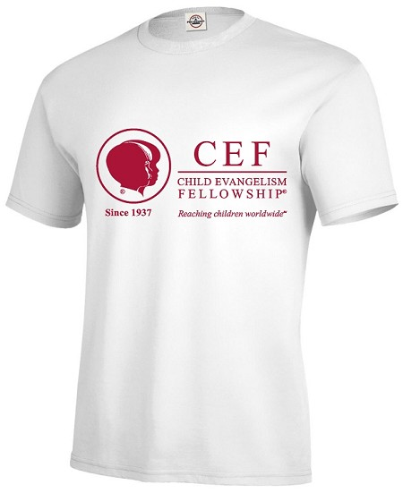 CEF T-shirt White or Maroon