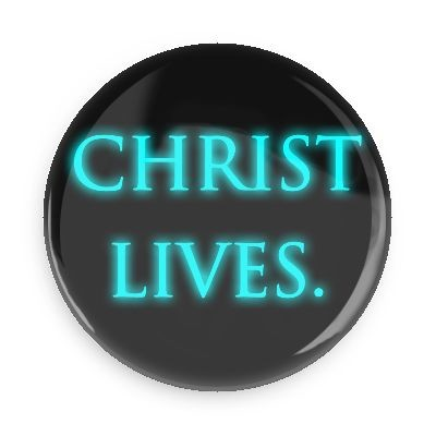 "Christ Lives Button - 2.25"" w//standard pin back"