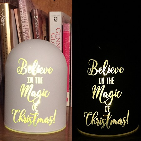 "Believe In The Magic Of Christmas - 3.5"" X4.75"" Tabletop"
