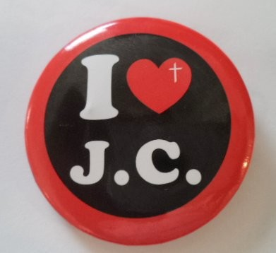 I heart J.C. Button