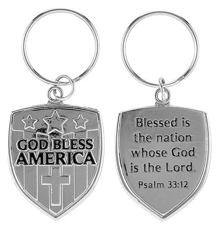 God Bless America Key Chain