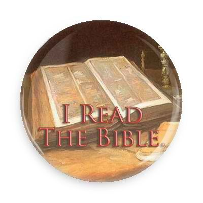 "I Read The Bible Button - 2.25"" w//standard pin"