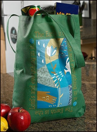 "The Earth is the Lord's,Lightweight Tote Bag, 14-1/2""x16"""