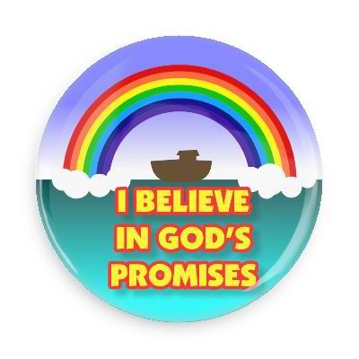 I Believe in God's Promises Button - 2.25""